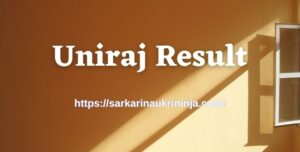 Read more about the article Download Uniraj Result 2021 – Rajasthan University UG PG Result Name Wise at result.uniraj.ac.in