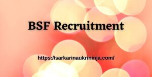 Read more about the article BSF Recruitment 2021: Fill Online Forms For Border Security Force 110 SI (Staff Nurse) (Group-B) & Other Post