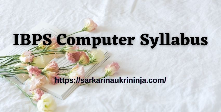 You are currently viewing IBPS Computer Syllabus 2021 | Download Computer Knowledge Exam Pattern & Questions Here