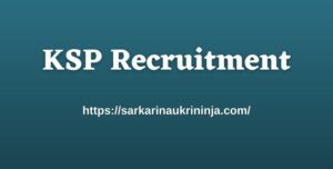 Read more about the article KSP Recruitment 2021: Fill Online Forms For 3533 Constable Posts @ ksp-online.in