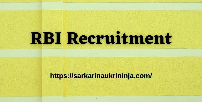 Read more about the article RBI Recruitment 2021: Apply Online For Reserve Bank of India BMC Posts Before Last Date