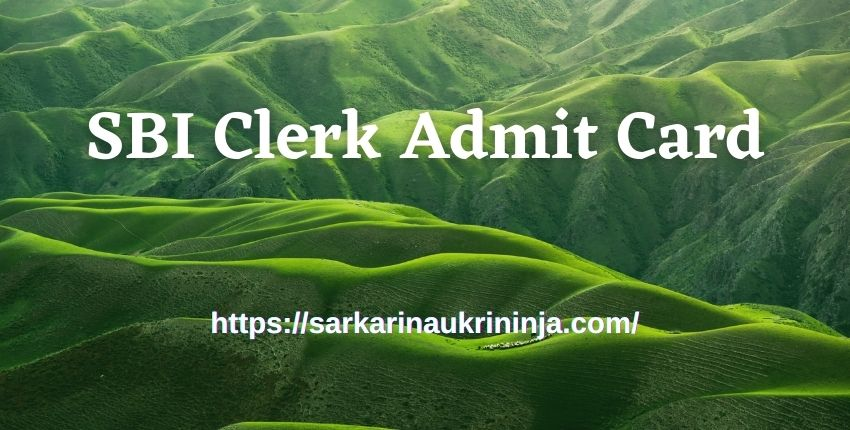 You are currently viewing Download SBI Clerk Admit Card 2021 – State Bank of India Junior Associates Exam Call Letter
