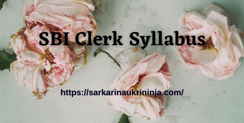 You are currently viewing SBI Clerk Syllabus 2021 – Download State Bank Of India Junior Associates Exam Pattern At sbi.co.in