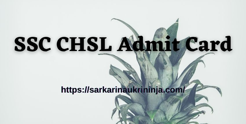 Read more about the article Download SSC CHSL Admit Card 2021 – Check Tier I Exam Hall Ticket By Name Check Here