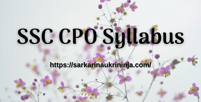 Read more about the article SSC CPO Syllabus 2021 Pdf, ssc.nic.in SI, CAPFs & ASI Paper- II Pattern & Guidelines