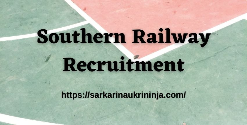 Read more about the article Southern Railway Recruitment 2021 | Apply Online For RRC SR 4103 Apprentice Vacancies