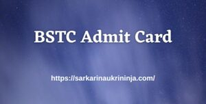 Read more about the article Rajasthan BSTC Admit Card 2021– BSTC D.El.Ed (Pre) Hall Tickets Download Here