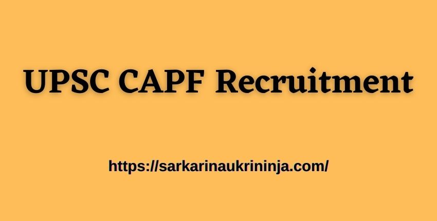 You are currently viewing UPSC CAPF Recruitment 2021 Notification Out For 159 Assistant Commandants (AC) Posts- Apply Online