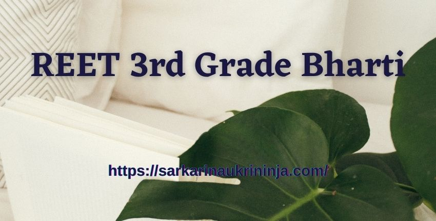 You are currently viewing REET 3rd Grade Bharti 2022 – Apply for Rajasthan 3rd Grade (Level 1 & 2) Teacher Vacancies