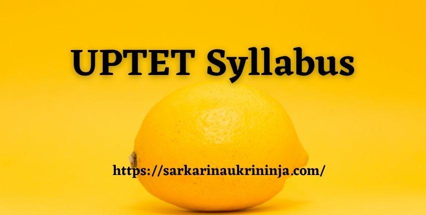 You are currently viewing UPTET Syllabus 2021 – Download Uttar Pradesh TET Paper I & II Syllabus, Exam Pattern Hindi Pdf
